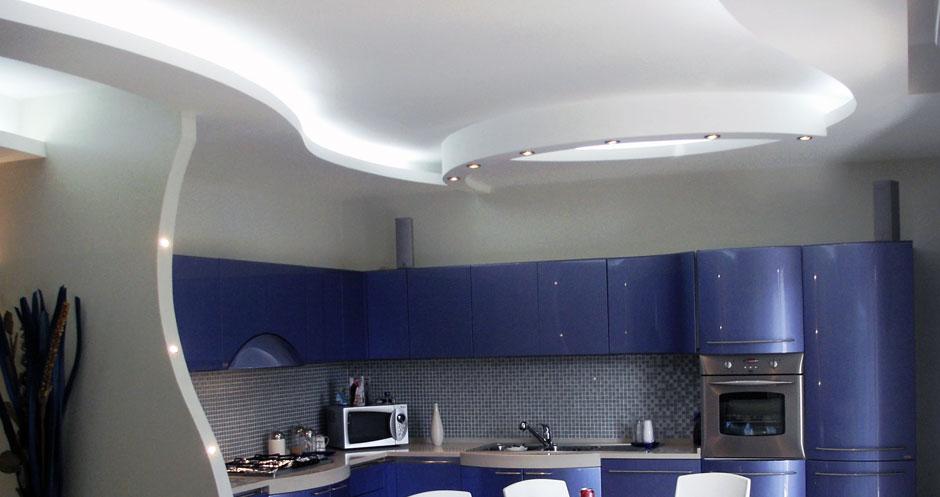 Casa immobiliare accessori disegni in cartongesso - Controsoffitti in cartongesso cucina ...